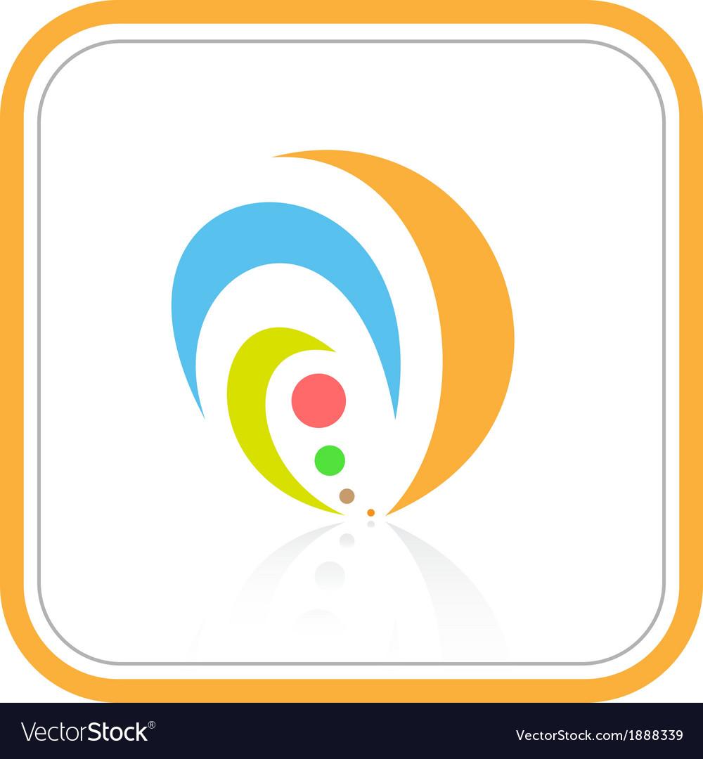 Abstract internet icon vector