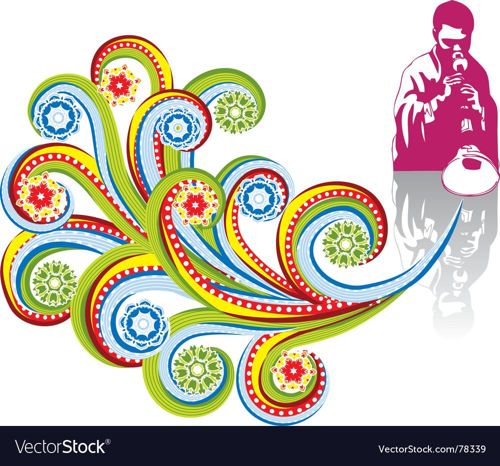 Abstract musician vector