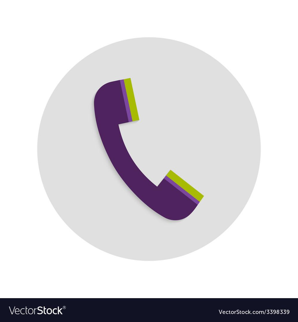 Headphone circle flat icon vector
