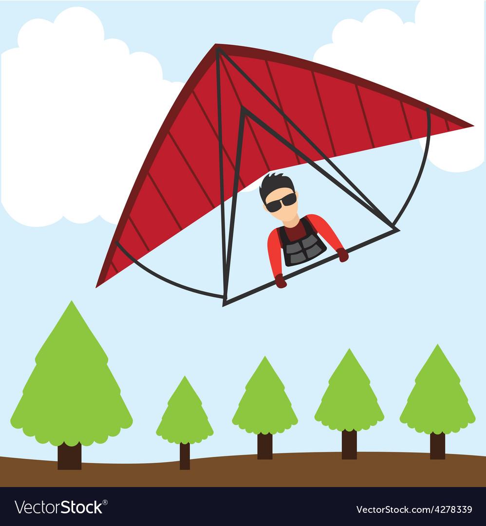 Paragliding sport vector