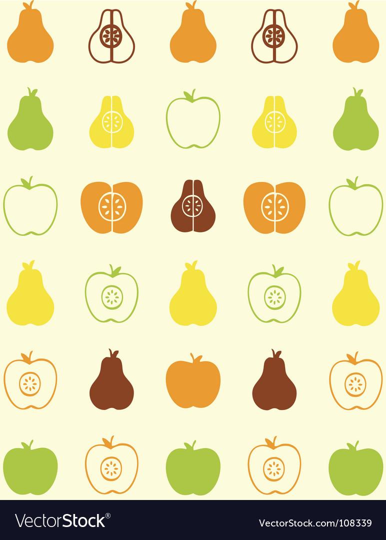 Pear wallpaper vector