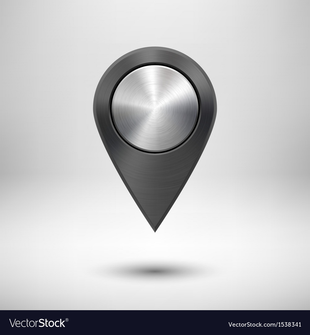 Technology map pointer with black metal texture vector