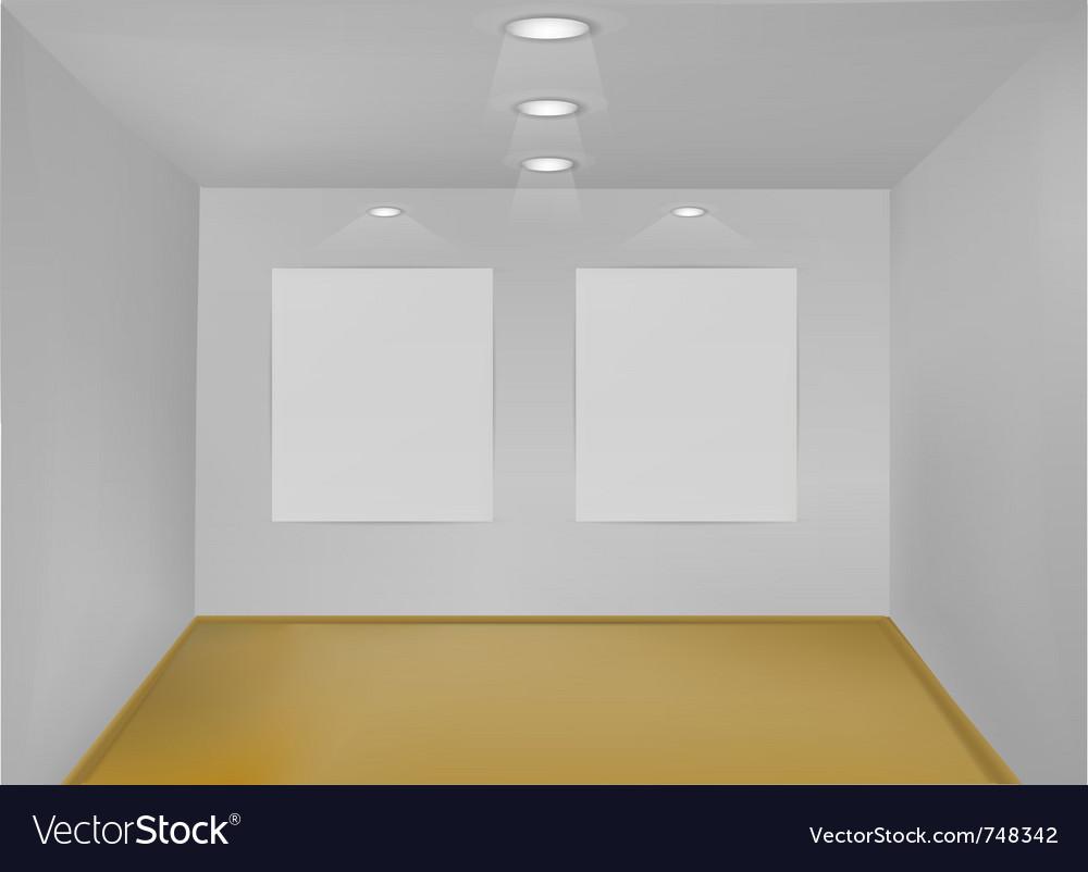 Empty gallery room vector