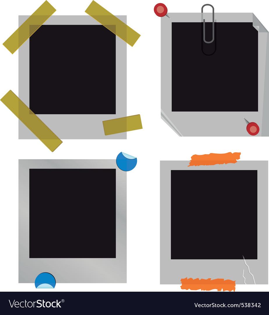Polaroid picture frame set vector