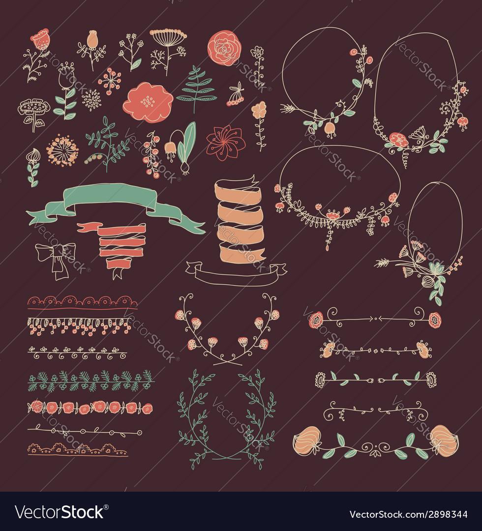 Big-set-of-floral-graphic-design-elements-vector