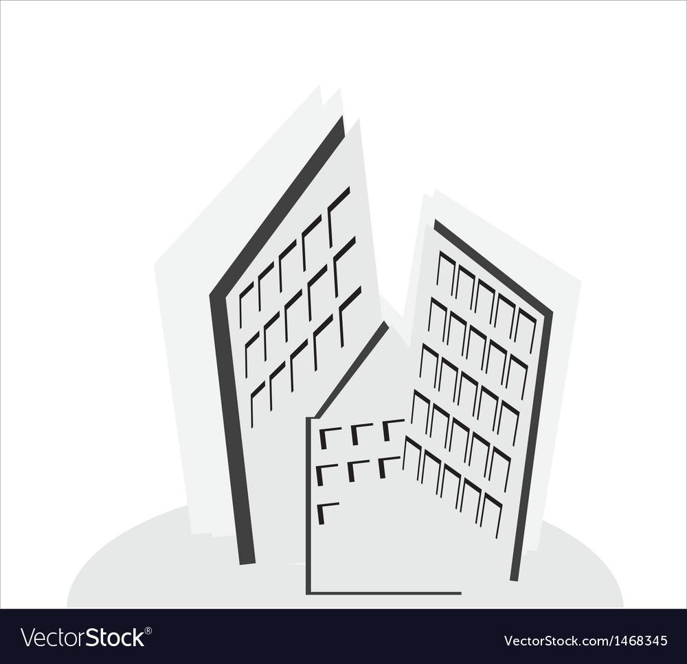 Construction real estate icon vector