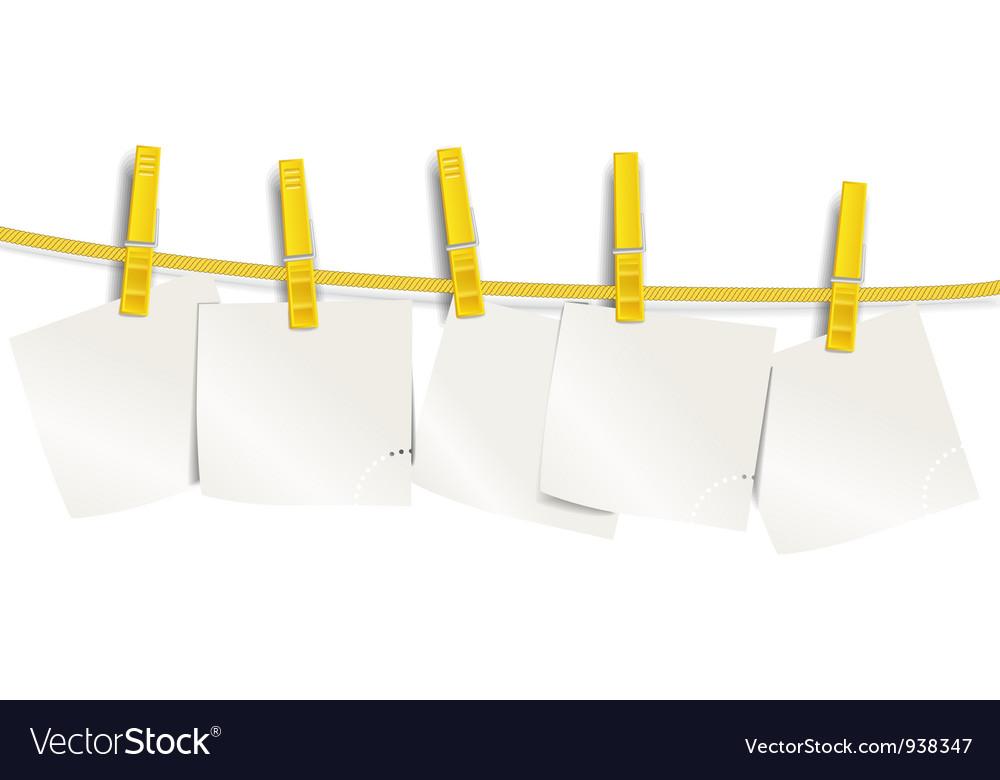 Pegged notes vector