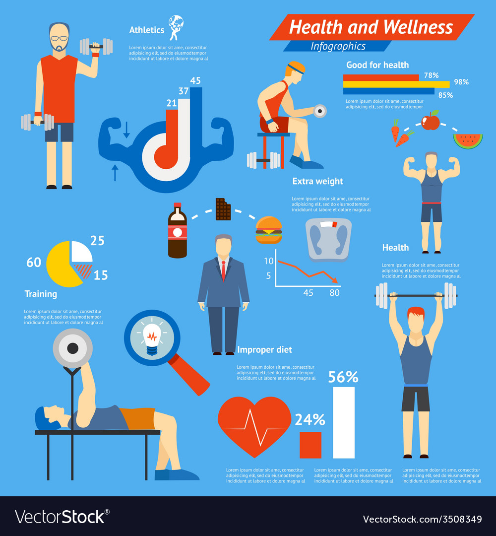 Sport and fitness infographics vector