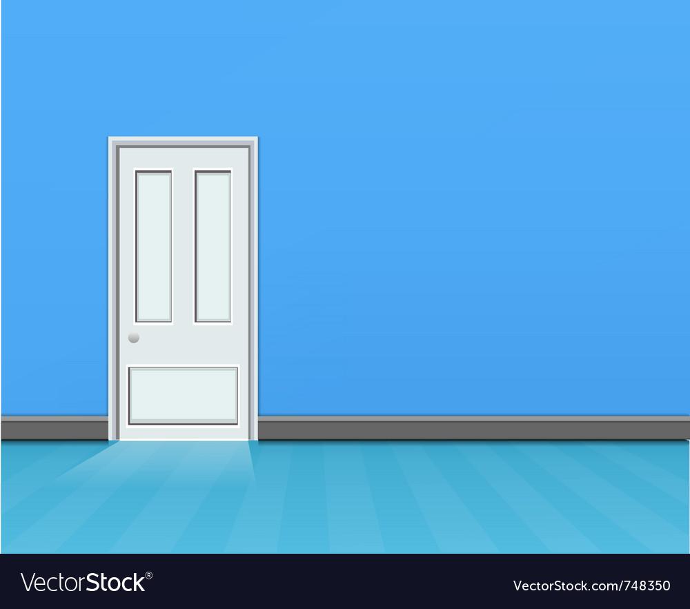 Empty blue room vector