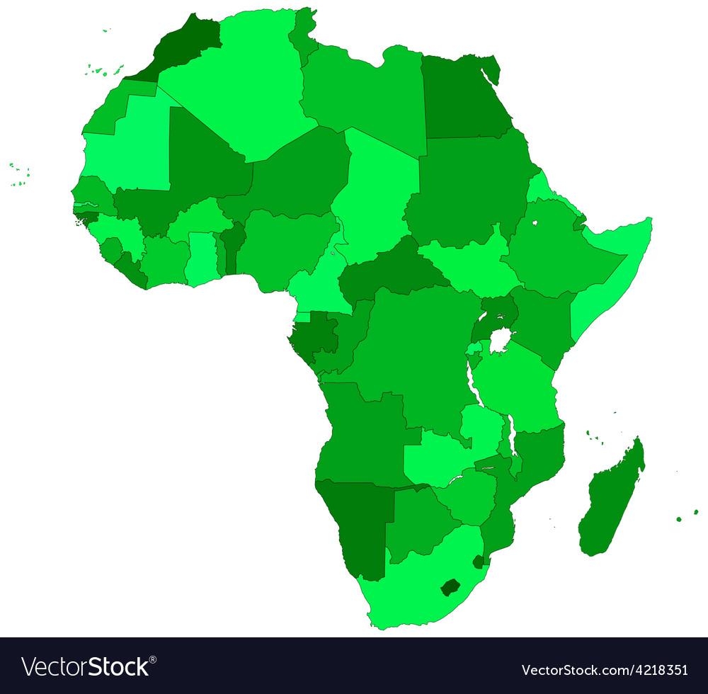 Africa contour map vector
