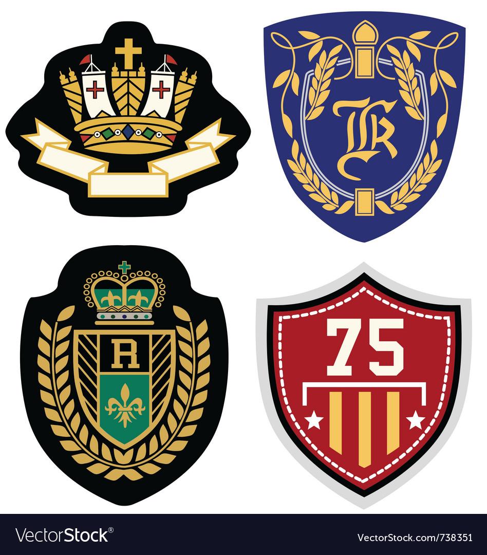 Emblem badge set vector