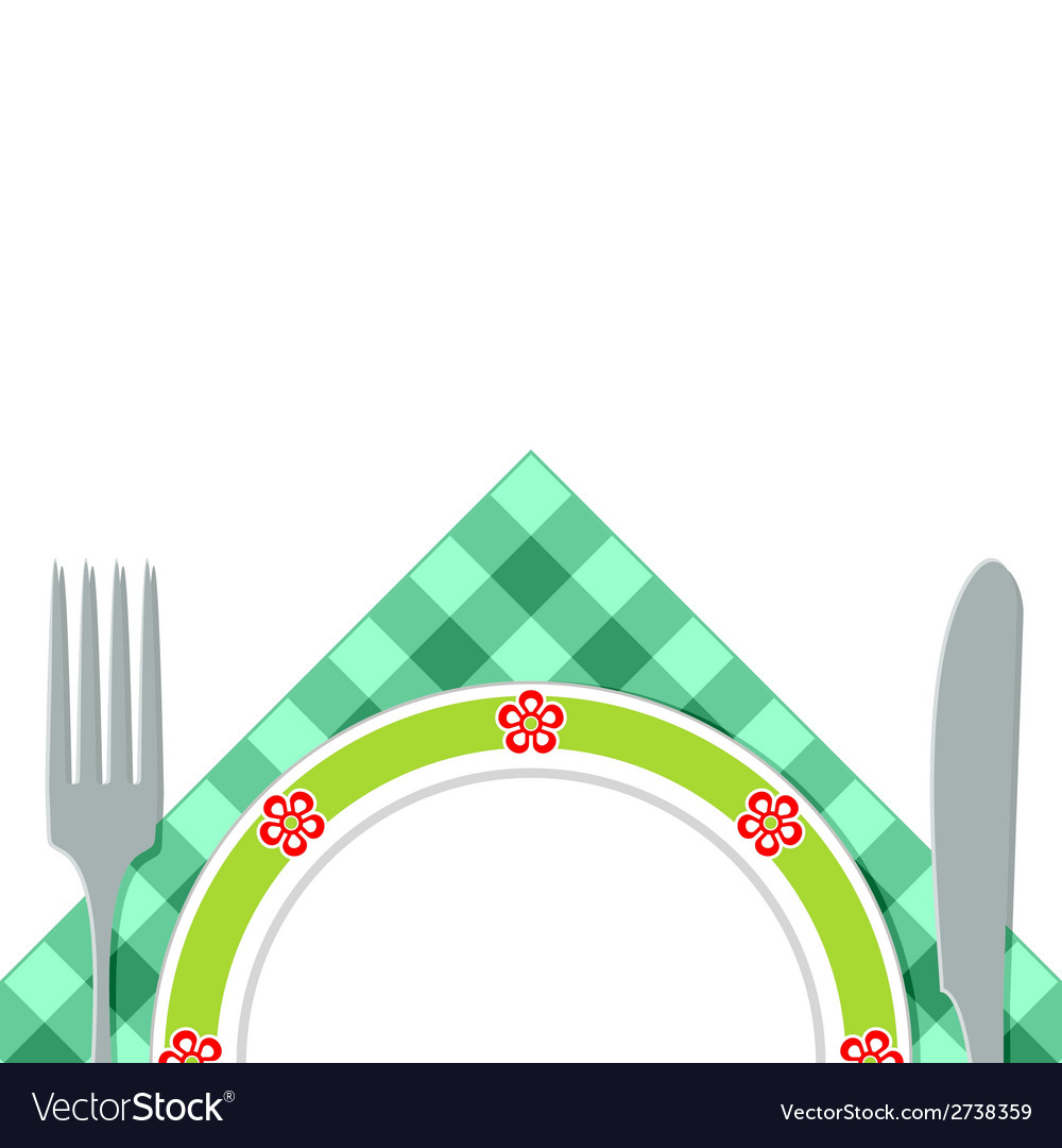 A plate of napkins vector