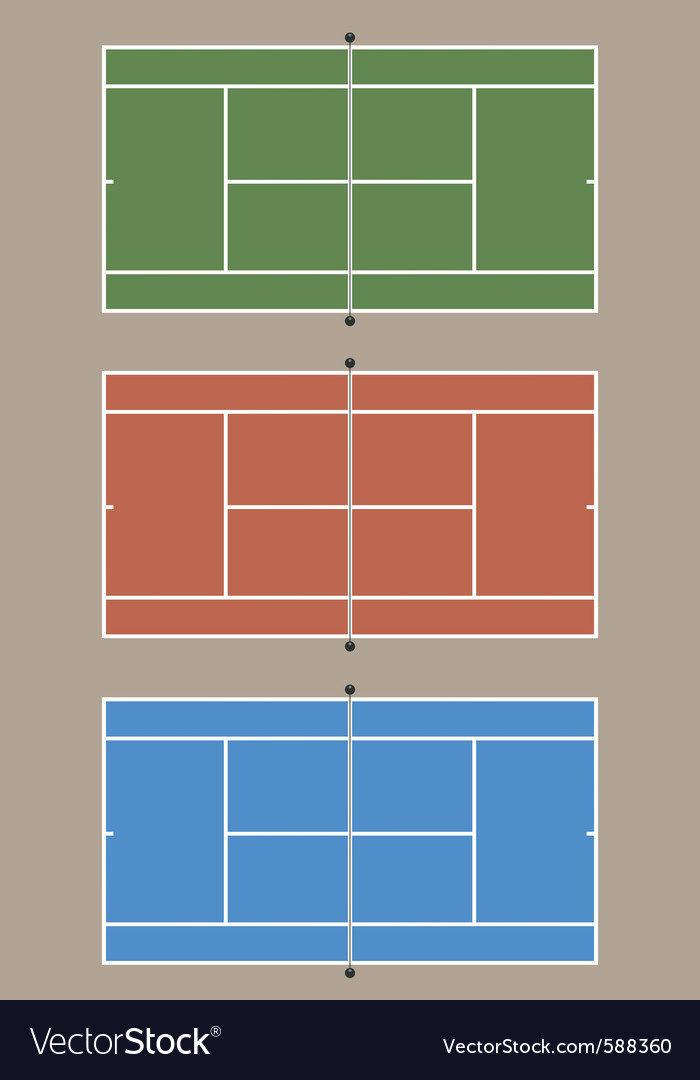 Tennis courts vector
