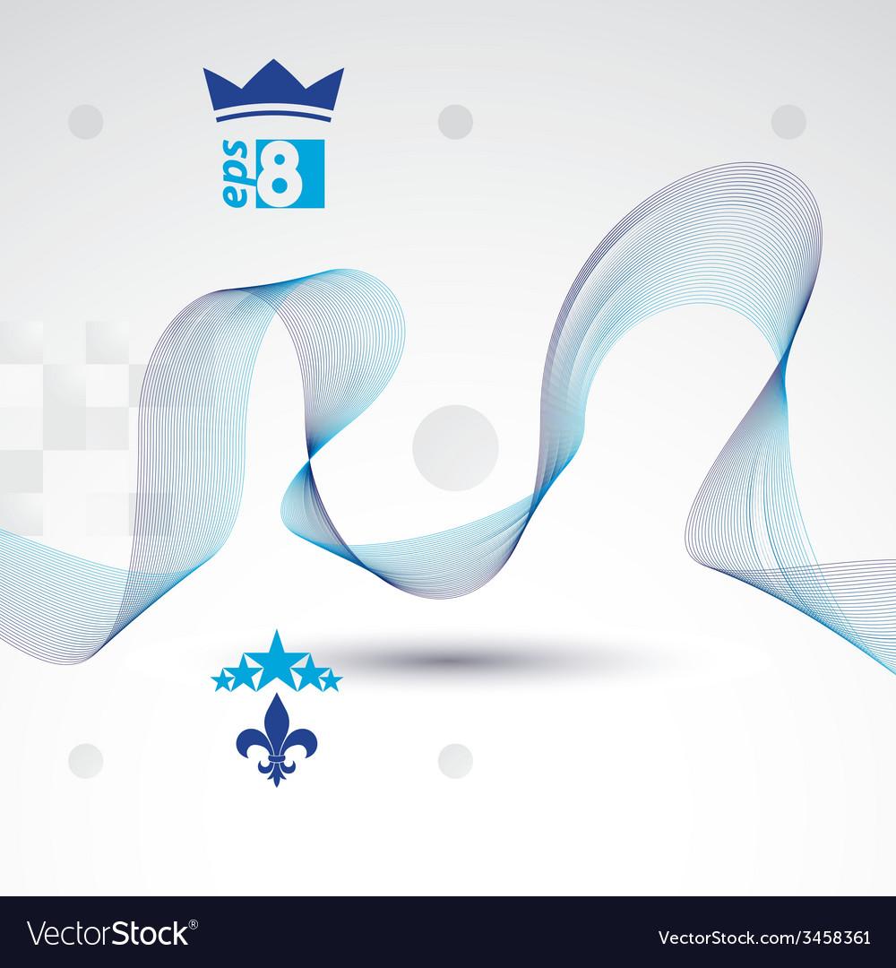 Elegant flowing lines background royal design eps8 vector