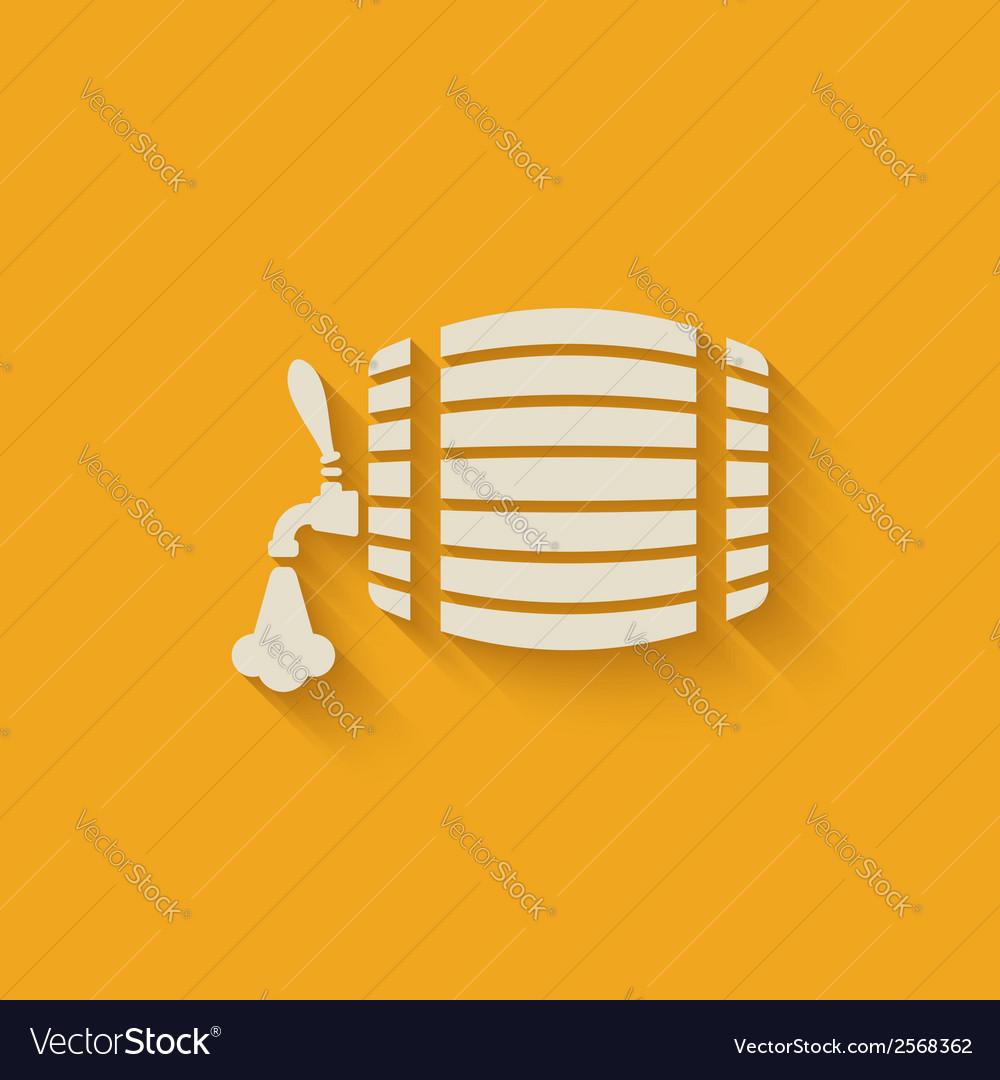 Beer barrel background vector
