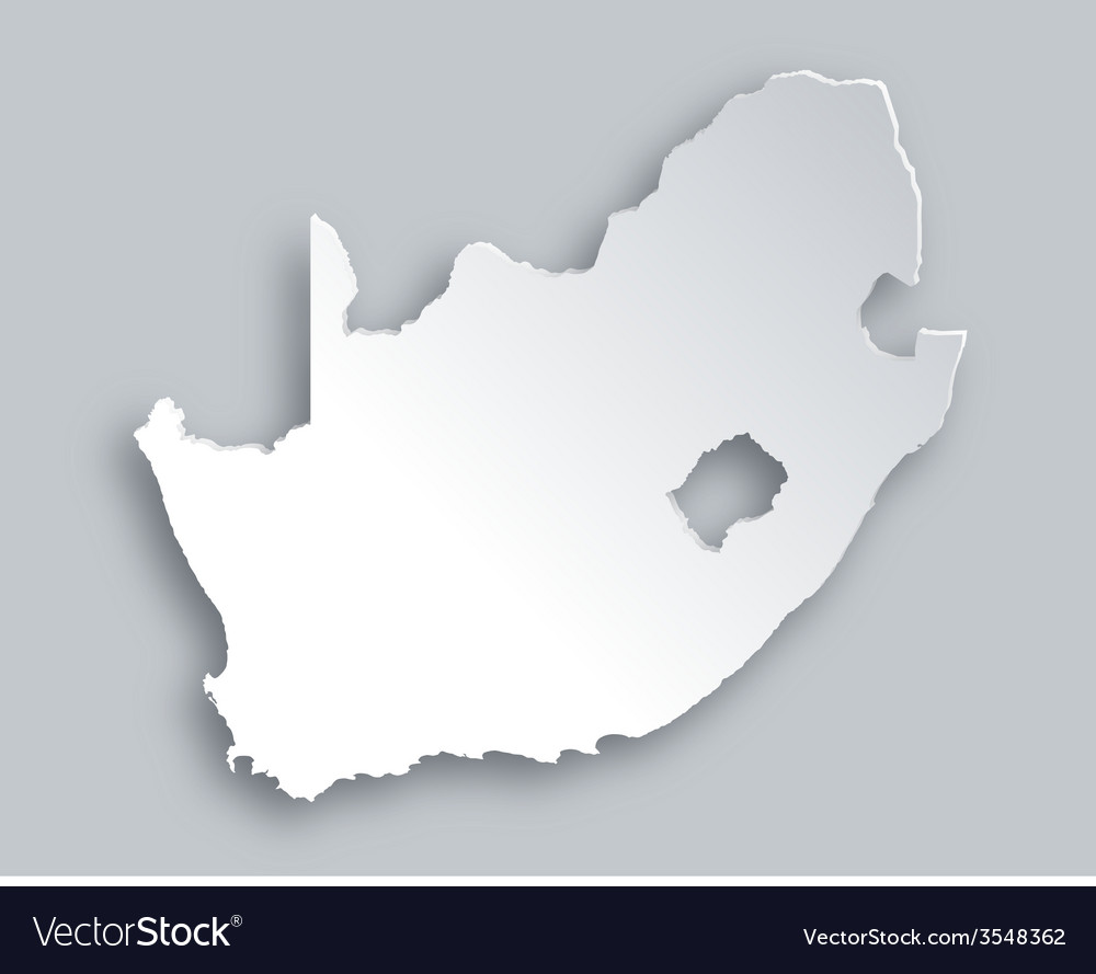 Map of south africa vector