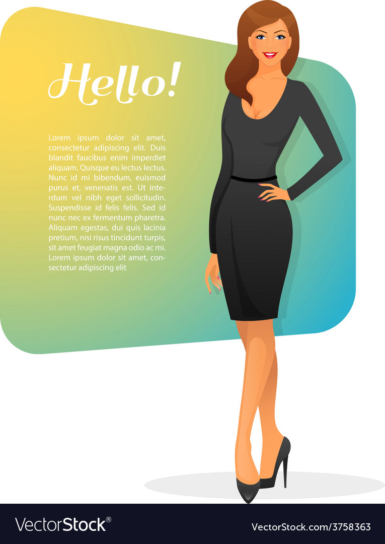 Beautiful and young woman vector