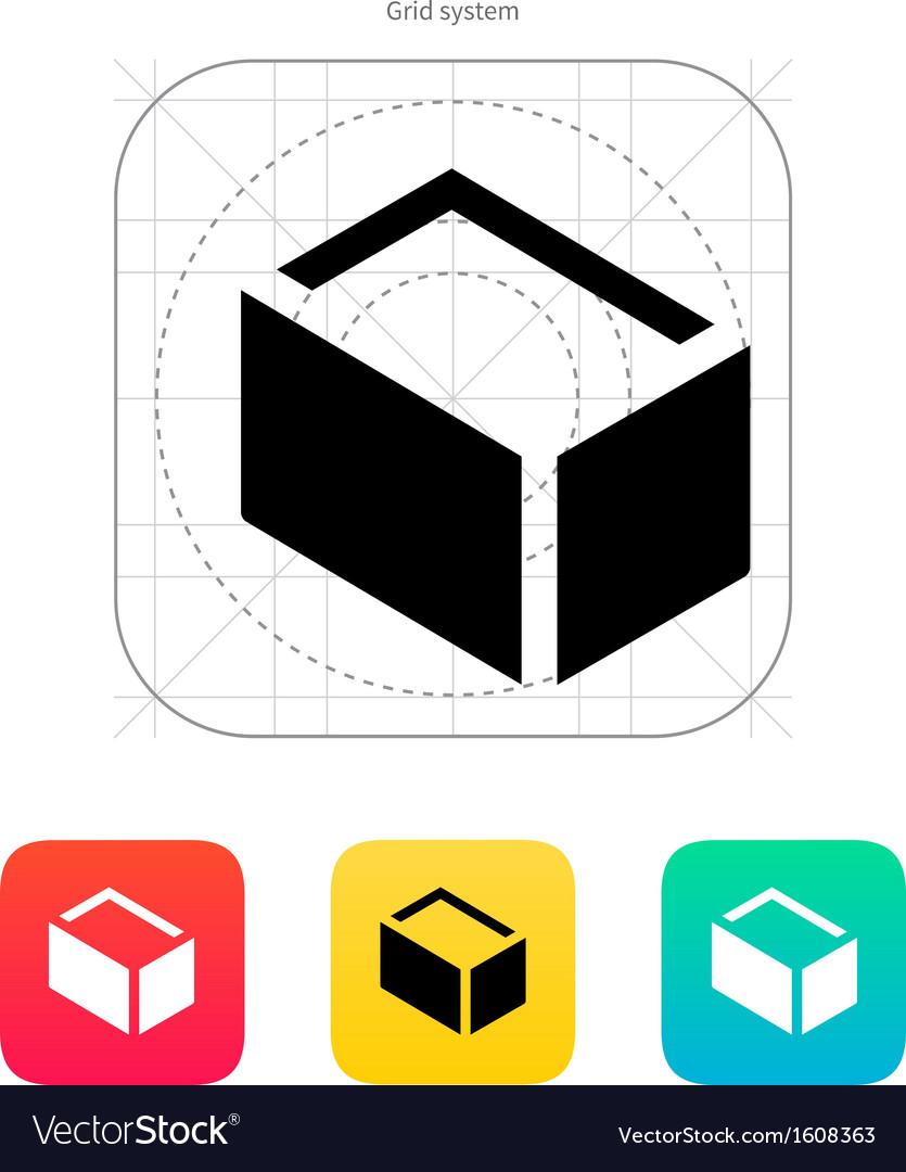 Empty box icon vector