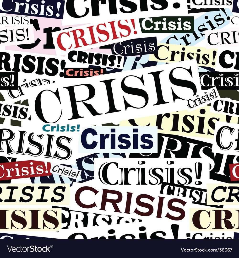 Crisis headlines tile vector