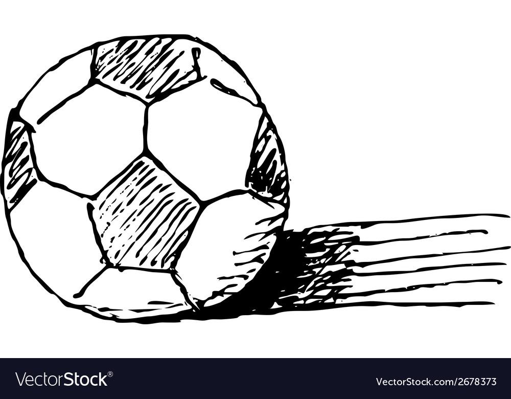 Hand-drawn soccer ball vector