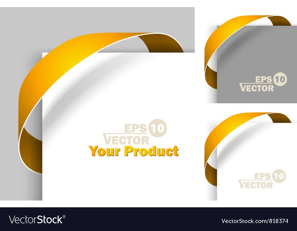 Creative labels vector