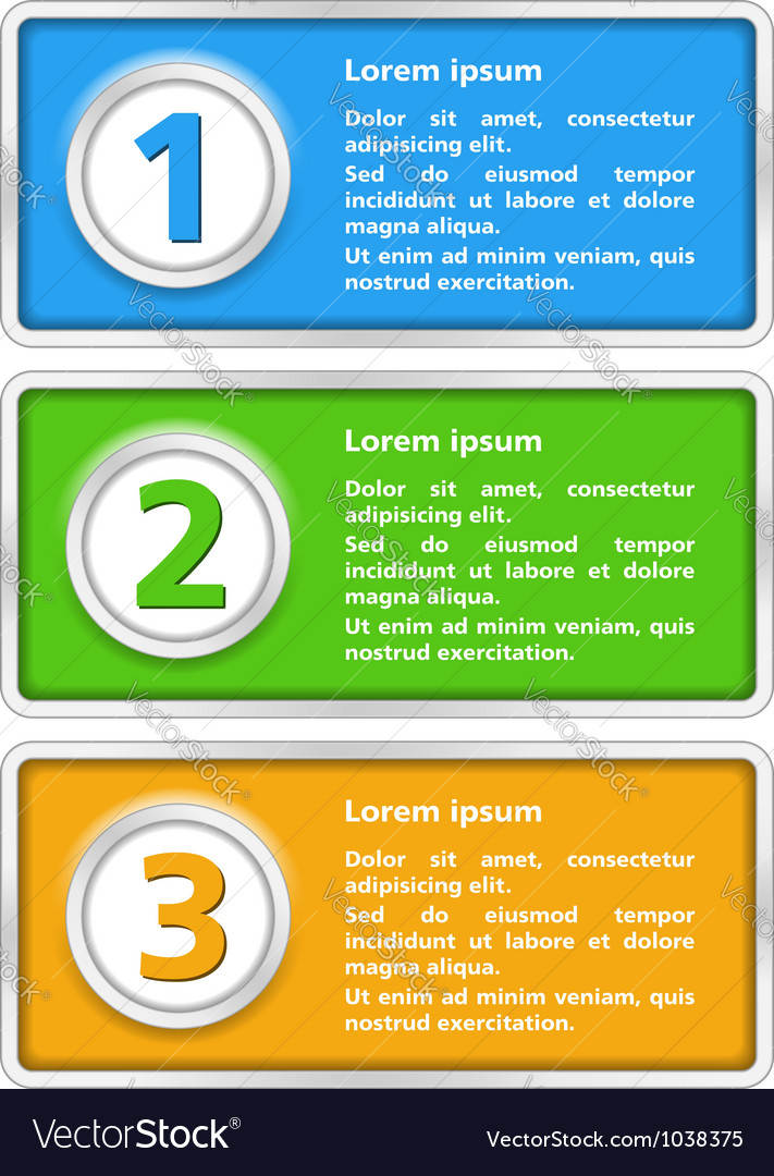 Banner with number templates vector