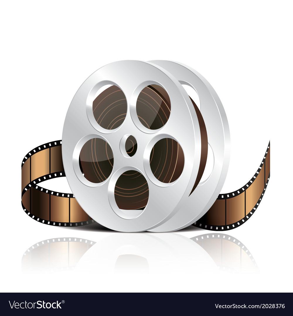 Object film reel vector