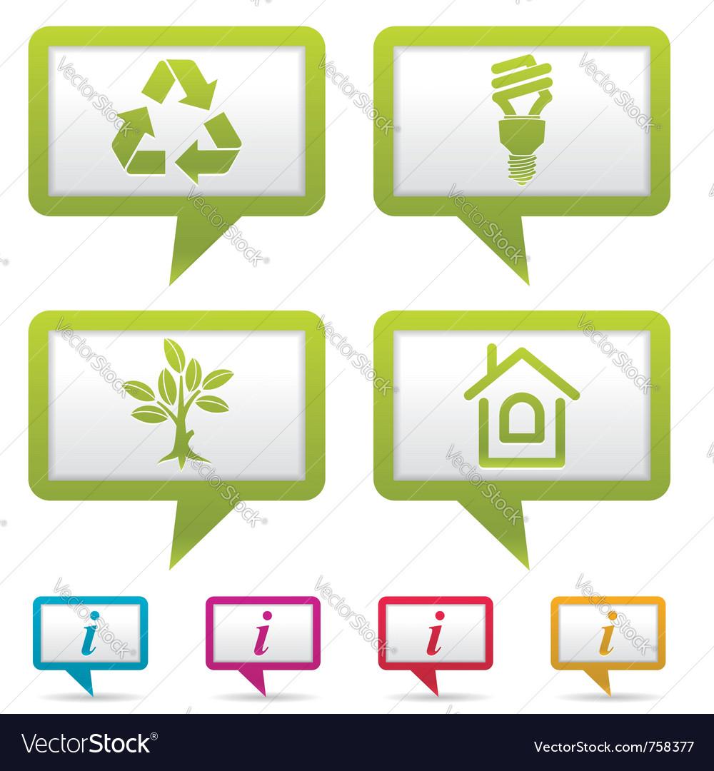 Environment web icons vector