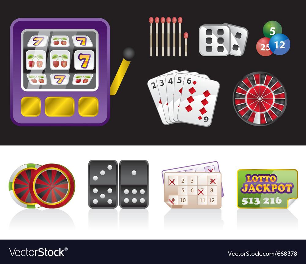 Casino and gambling tools icons vector