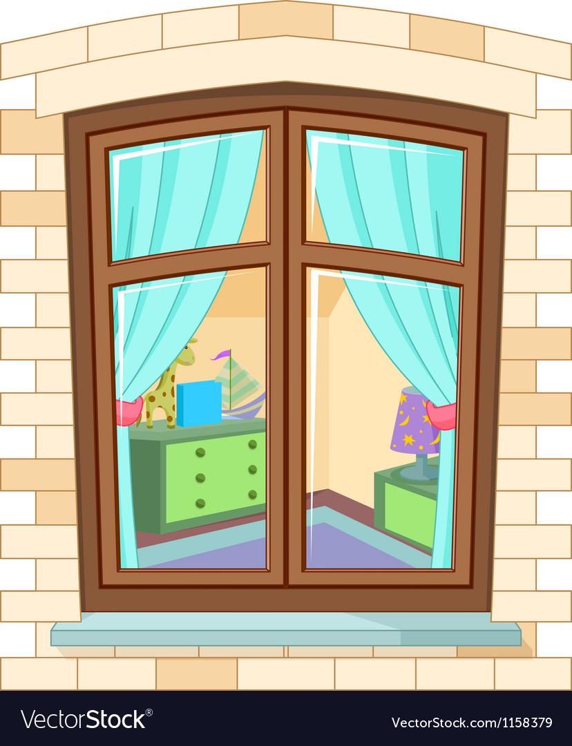 Cartoon window vector