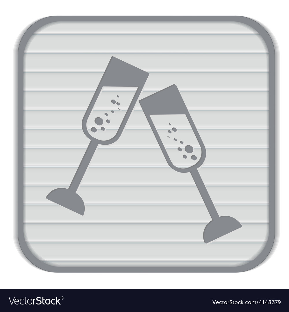 Champagne glass icon vector