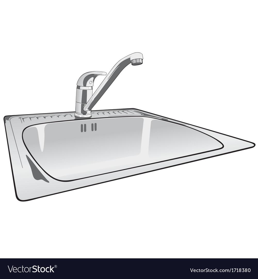 Kitchen sink vector