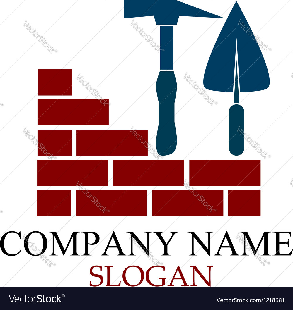 Design for construction business vector