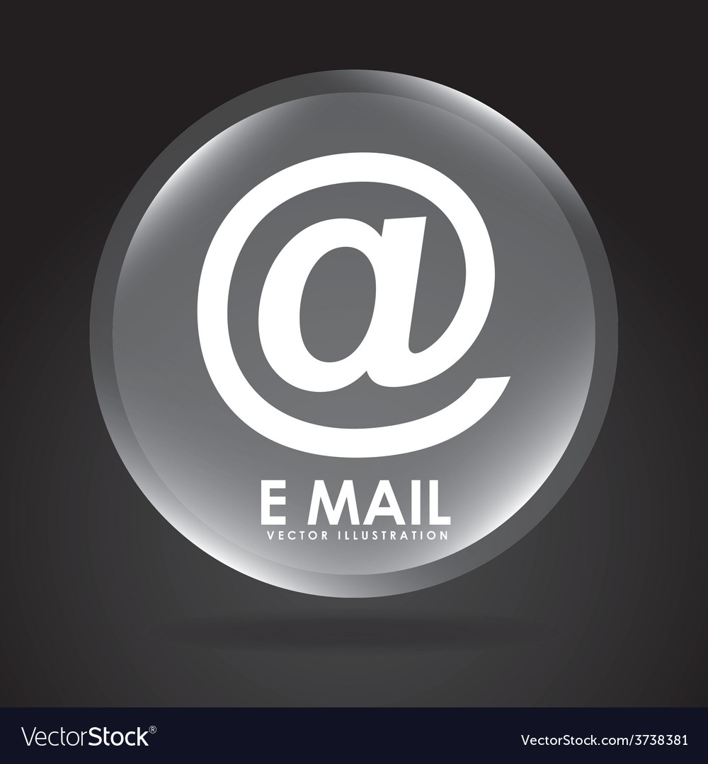 Email button design vector