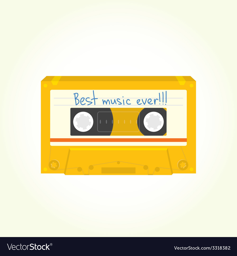 Audio cassette isolated vector
