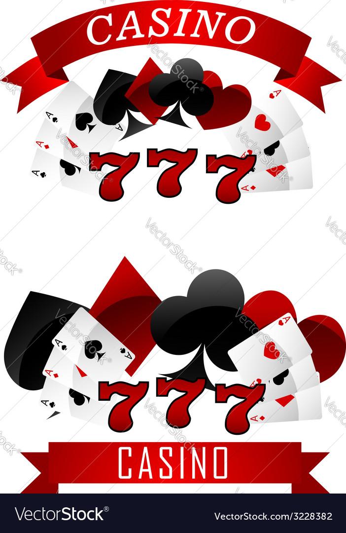 Gambling emblems or signs vector
