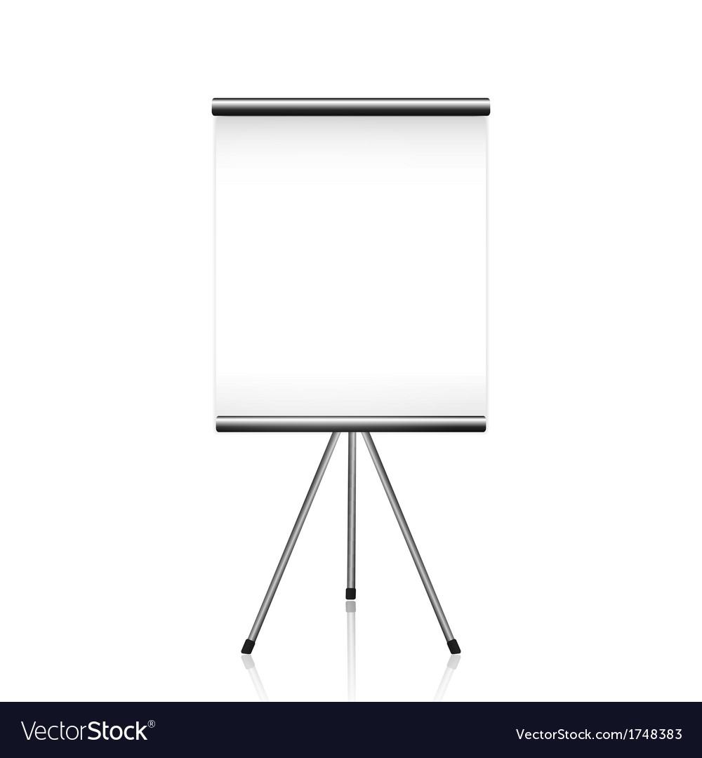 Projector screen tripod vector