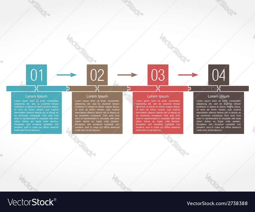 Design template with four elements vector