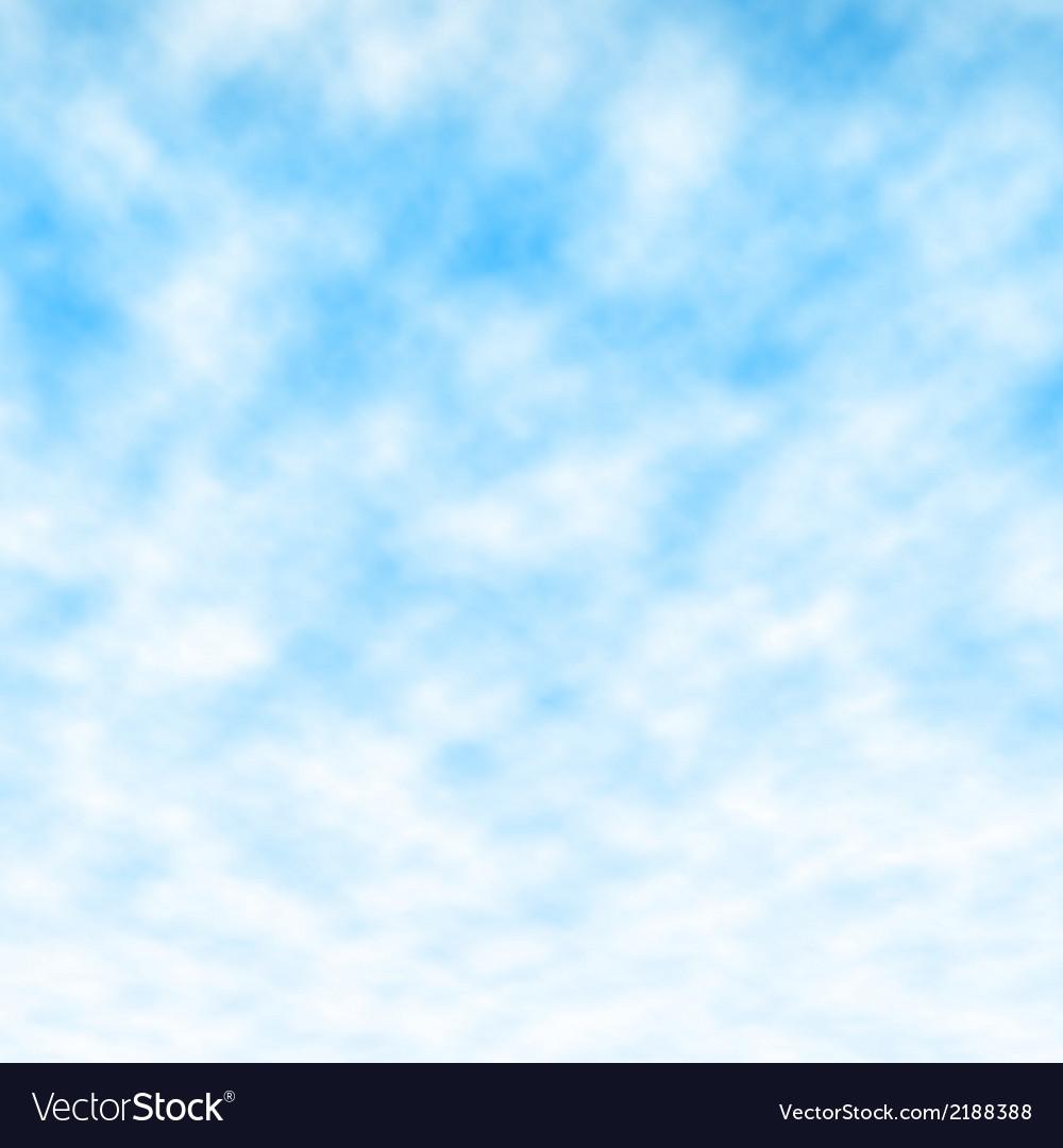 Fluffy blue sky vector