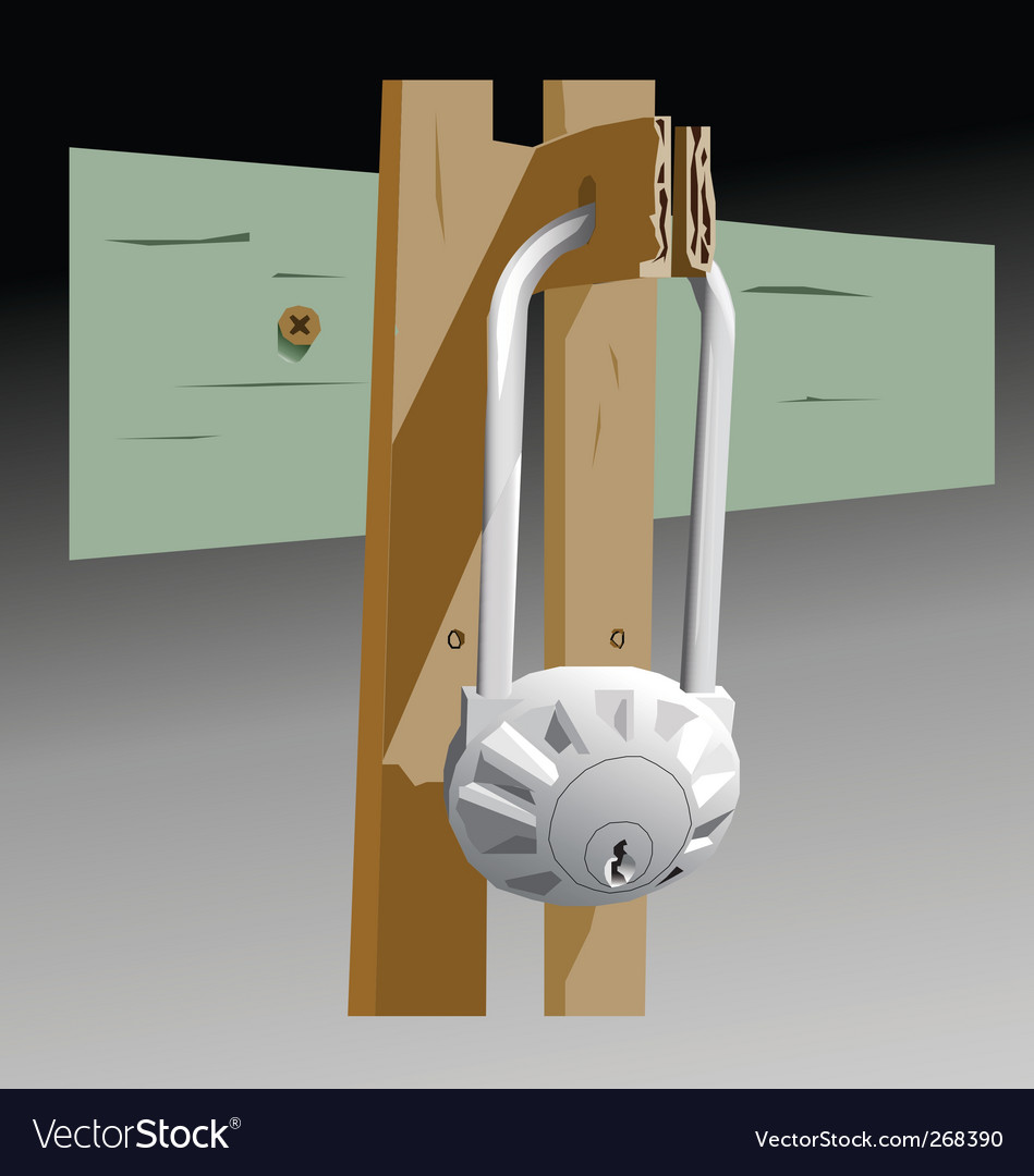 Garage lock vector