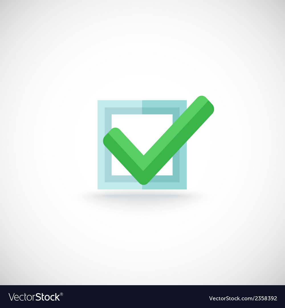 Chek mark web button icon vector