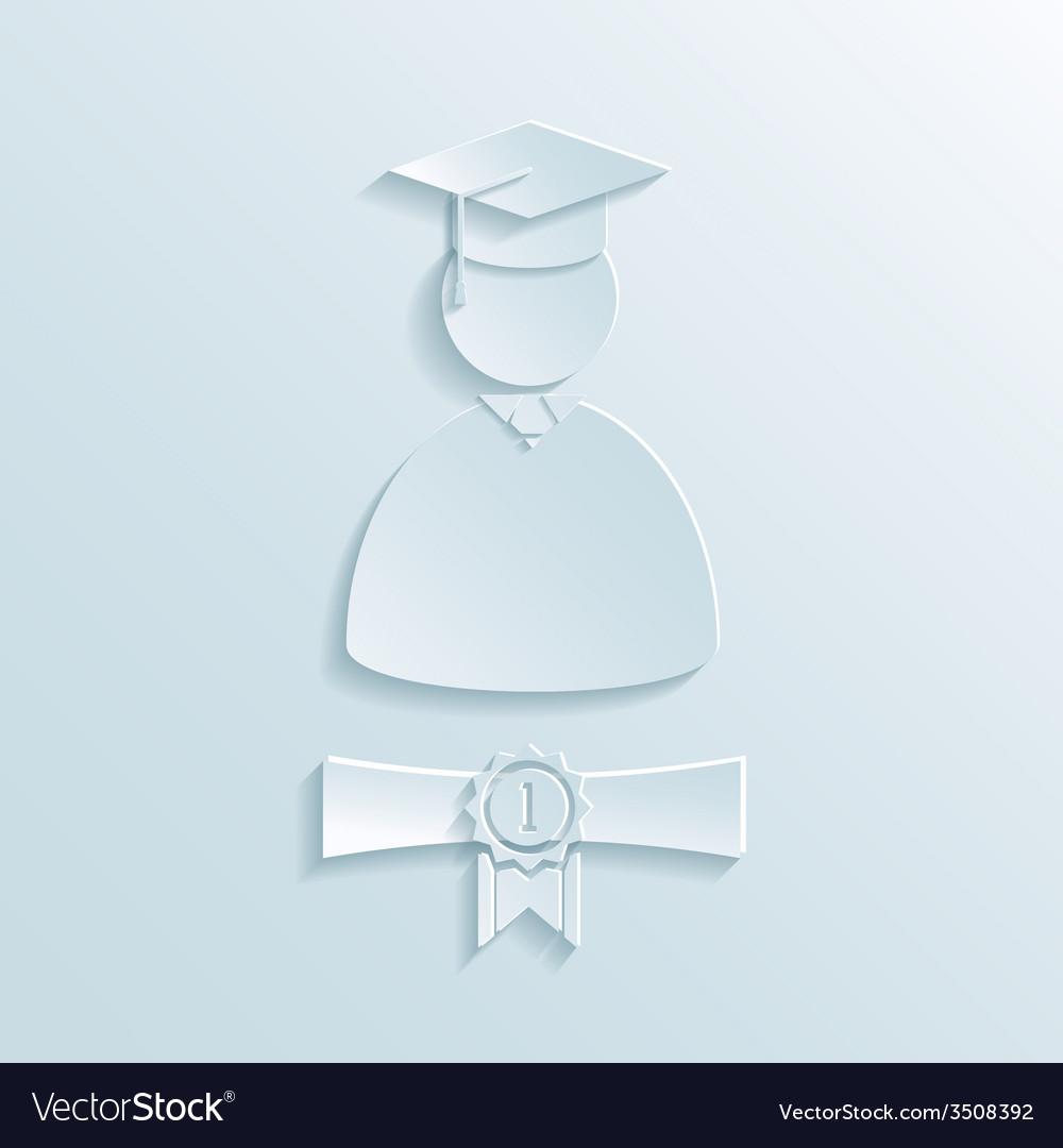 Graduate student silhouette vector