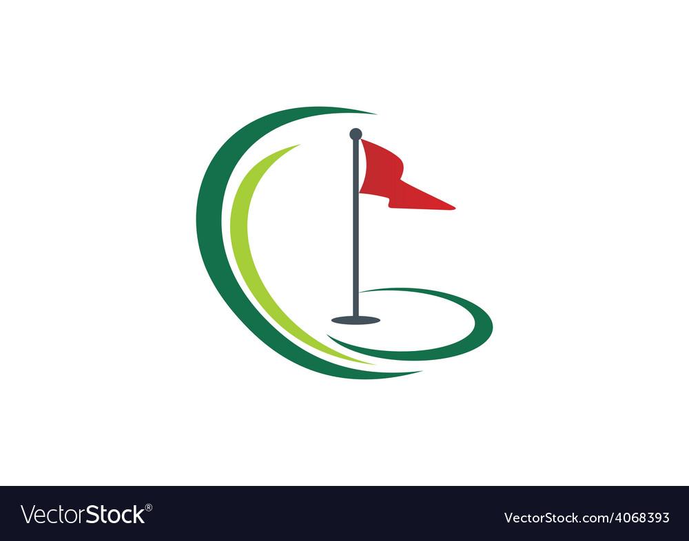 Golf land play tournament logo vector