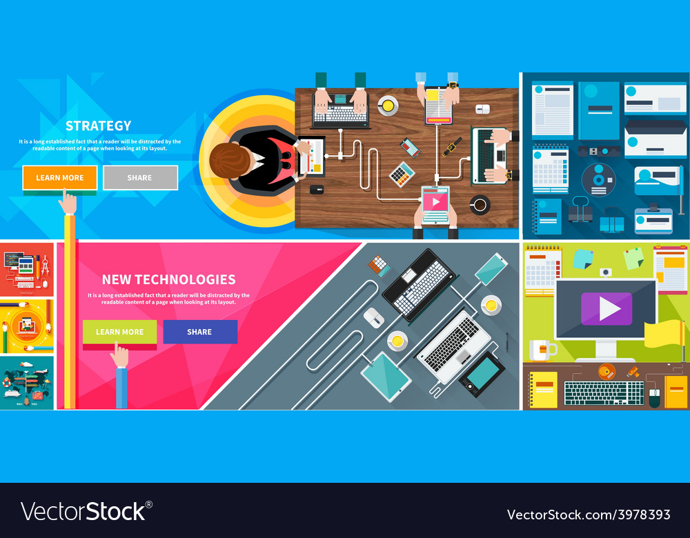 Strategy new technologies brand design travel vector