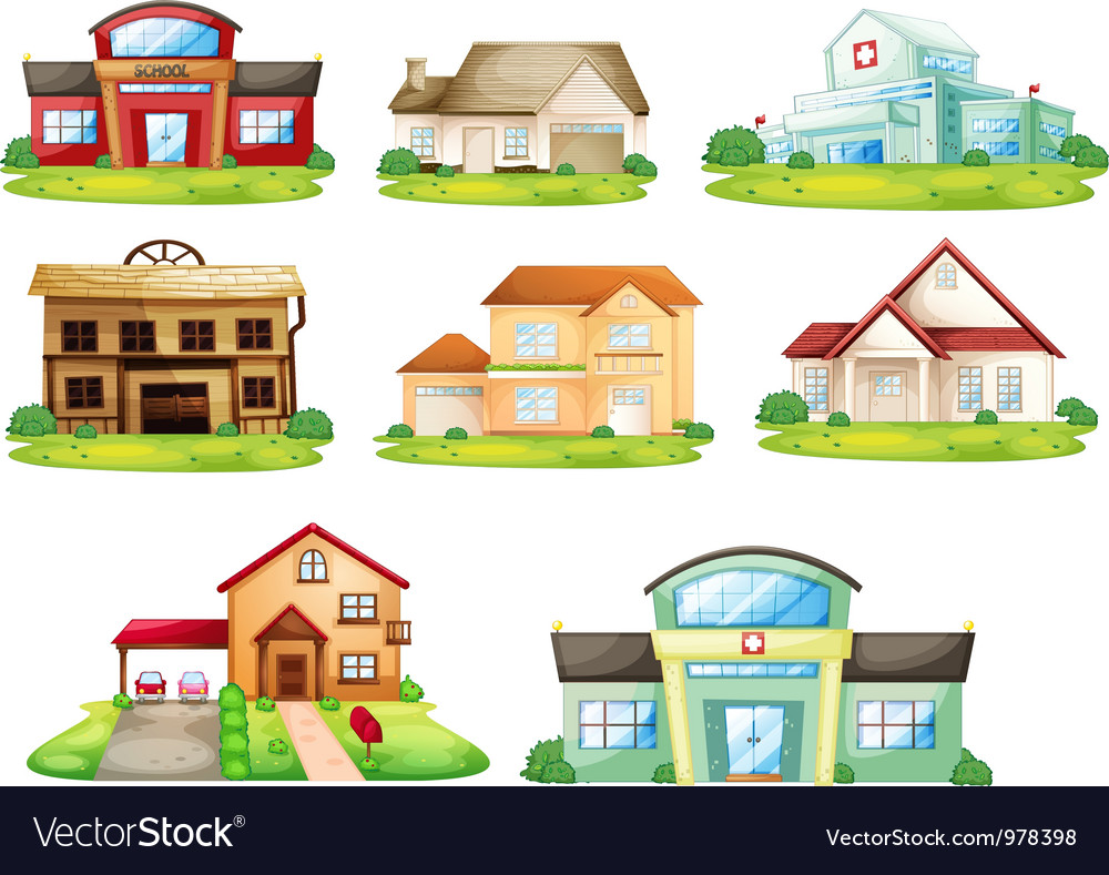 Houses and other building vector