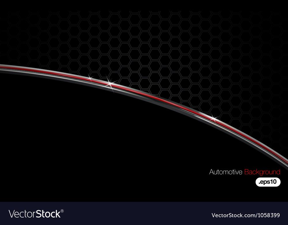 Black n chrome automotive background vector