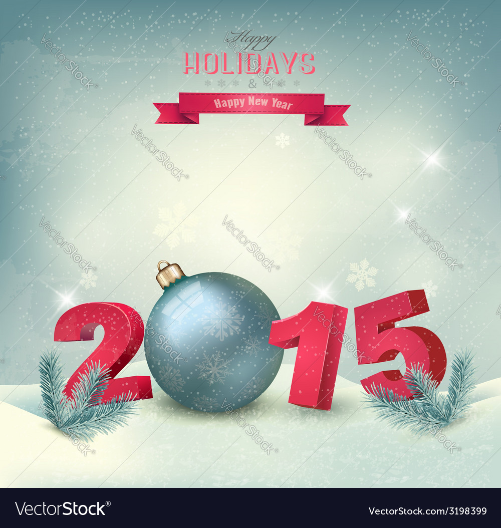 Christmas background with a 2015 vector