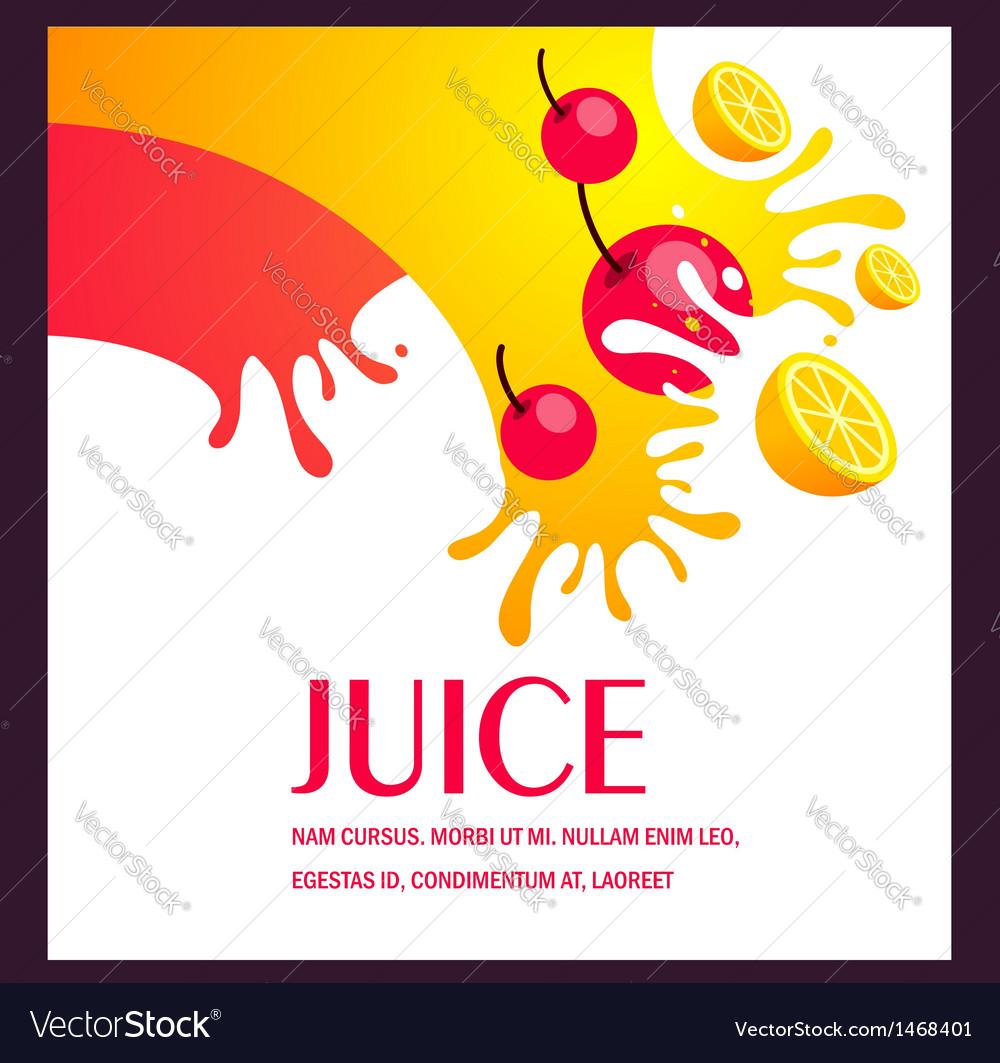 Juice fruit liquid drops splash colorful backgroun vector