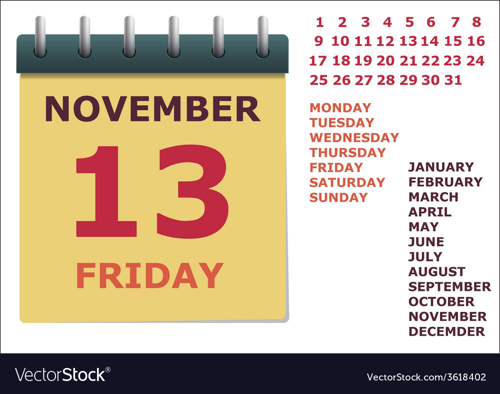 Calendar for the year vector
