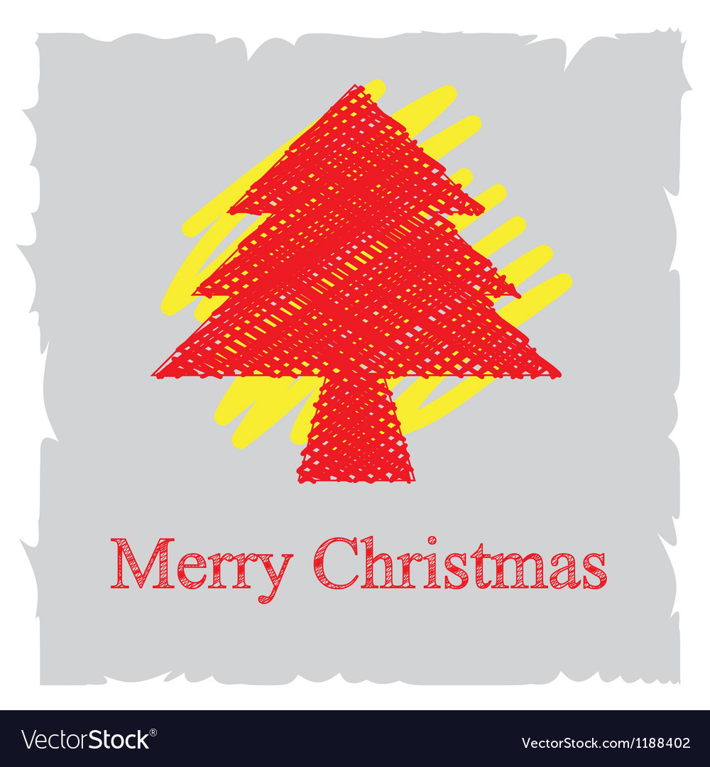 Sketch drawing christmas background design vector
